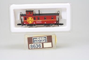 Märklin 8636 Miniclub Caboose der SF unbespielt in Originalverpackung
