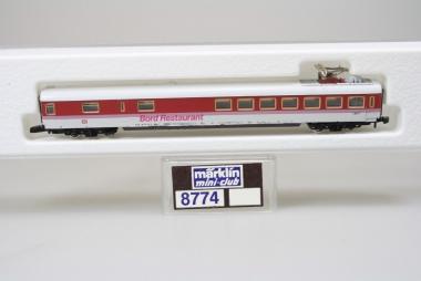 Märklin 8774 Miniclub IC Speisewagen der DB unbespielt in Originalverpackung