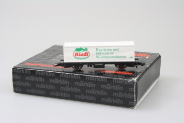 Märklin 94717 Miniclub Containerwagen Riedl unbespielt sehr selten!!!!