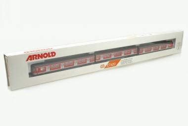 Arnold 2944 verkehrsrot Triebwagen der DB 3-teilig in Originalverpackung