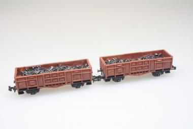Arnold 2x offener Güterwagen Spur N Top Zustand