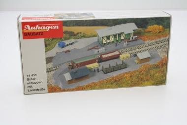 Auhagen 14451 Güterschuppen mit Ladestraße in N Bausatz
