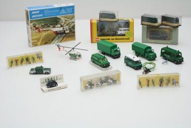 Wiking Busch Brekina Preiser Roskopf Herpa Sammlung 17x Polizei Spur H0