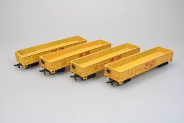 Bachmann 17206 4x 40' Gondola Car der Union Pacific in H0