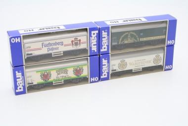 Baur interessante Sammlung Güterwagen Bierwagen H0 in Originalverpackung