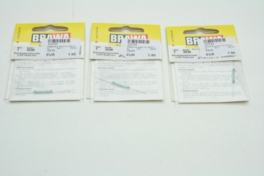Brawa 3530 3x Reed-Kontakt Schutzgasrohrkontakt 0,5A 19 x 26 mm