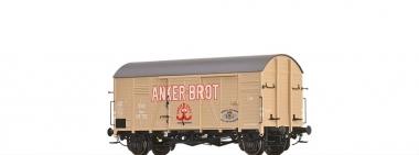 Brawa 47988 gedeckter Güterwagen Gms 30 Anker Brot ÖBB in H0 AC Achsen Fabrikneu
