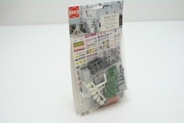 Busch 1131 Deko-Set zum Nachrüsten von Gebäuden H0 in Originalverpackung