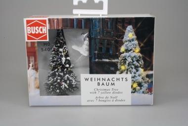 Busch 5409 Weihnachtsbaum beleuchtet mit Schneemann in H0 in Originalverpackung