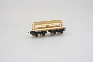Egger Bahn 2207 Plattformwagen mit Bank in H0e Top Zustand