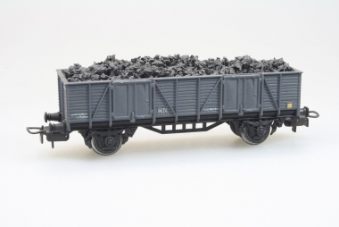 Electrotren 1002/2 Hochbordwagen Güterwagen mit Kohleladung in H0 mit AC Achsen