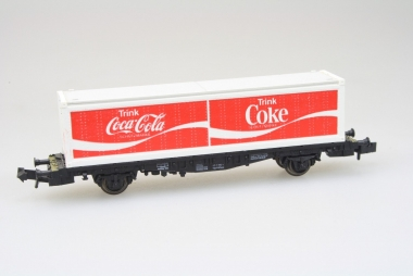 Fleischmann 8243 Containerwagen Coca Cola der DB in N super Zustand