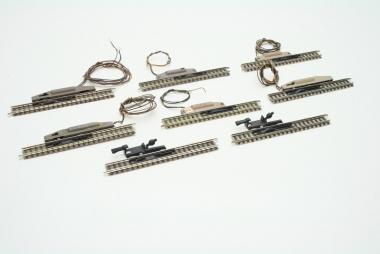 Fleischmann piccolo 9114 6x Entkupplungsgleis 111 mm mit elektrischem Antrieb
