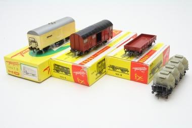 Fleischmann interessante Sammlung Güterwagen in H0 in Originalverpackung
