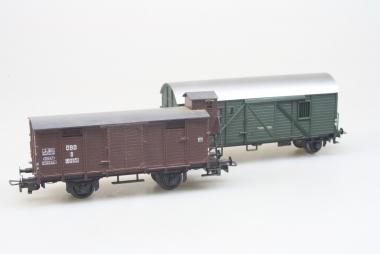 Sachsenmodelle 16102 und Liliput 214 2x gedeckter Güterwagen  in H0