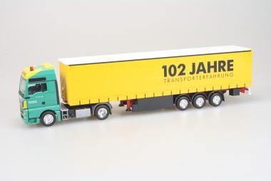 Herpa MAN TGX XXL Gardinen Sattelzug Gartner KG 102Jahre Transporterfahrung 1:87
