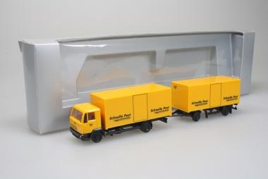Herpa Exklusiv Serie Steyr L2000 Köffer HZ Schnelle Post EMS 1:87