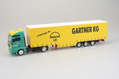 Herpa 14878 MAN TGX XXL Gardinen Sattelzug Gartner KG The World Of Transport H0