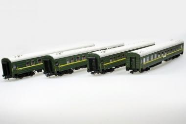 Heris 17050 Wagenset Schlafwagen Berlin-Moskau Typ Ammendorf RZD grün NEUWARE