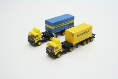 Herpa 2x MB Container Sattelzug H0 / 1:87 gepflegter Zustand