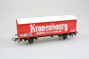 Jouef 6260 gedeckter Güterwagen Kronenbourg SNCF neu in Originalverpackung