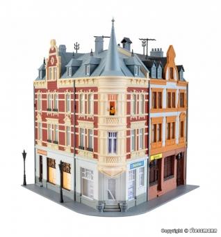 Kibri 38295 Stadthaus mit Figur und Hausbeleuchtungs- Startset in H0 Bausatz
