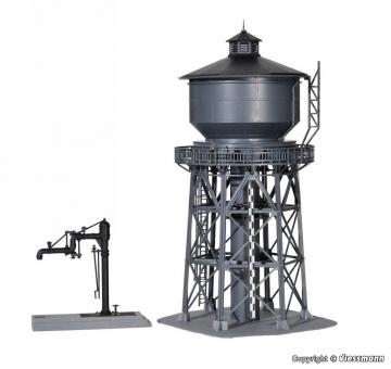 Kibri 39328 Wasserturm mit Befüllkran in H0 Bausatz