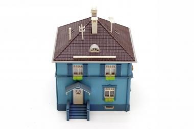 Kibri Haus Wohnhaus mit Vorbau in H0 mit Beleuchtung ähnlich 8204