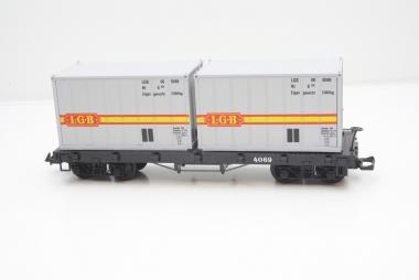 LGB 4069 Containerwagen in Spur G in Originalverpackung