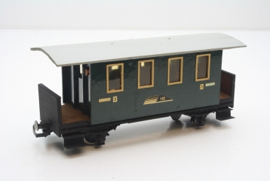 LGB Personenwagen 3. Klasse der HS Spur G Eigenbau Unikat mit Figuren