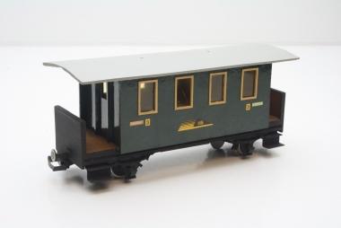 LGB Personenwagen 3. Kl. der HS Spur G Eigenbau Unikat mit Figuren