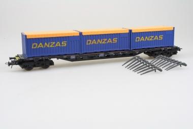 Liliput 20110 Rungenwagen mit Container Danzas unbespielt in Originalverpackung