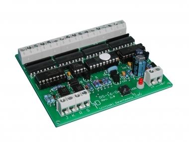 Littfinski 310201 RS-16-O-B 16fach Rückmeldemodul m. Optokopplern Fabrikneu