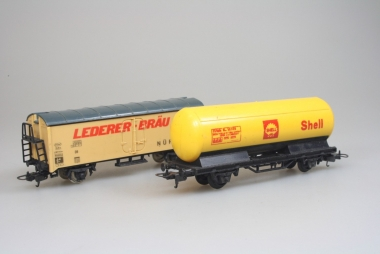 Lima 2x Güterwagen in H0 mit Gleichstrom Achsen