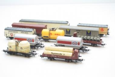 Lima interessante Sammlung Güterwagen 11-teilig H0