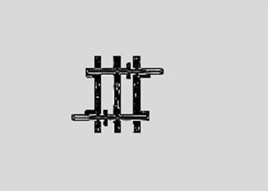 Märklin 2204 K-Gleis gerade Länge 1/8 22,5 mm H0 Fabrikneu