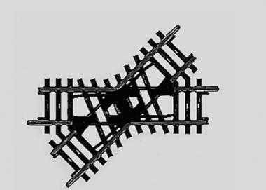 Märklin 2258 K-Gleis Kreuzung Länge 90 mm H0 Fabrikneu