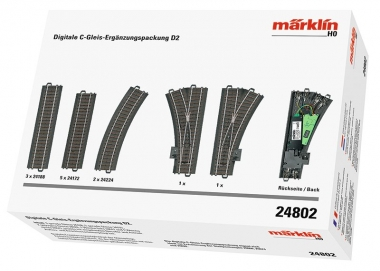 Märklin 24802 C-Gleis Digitale Ergänzungspackung D2 H0 Fabrikneu