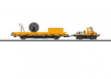 Märklin 39940 Zweiwege-Unimog mit Fahrleitungsbauwagen DB H0 mfx+ Fabrikneu