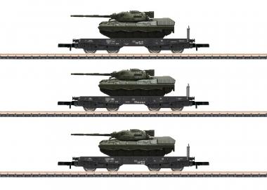 Märklin 82229 Schwerlasttransportwagen-Set mit Panzer Leopard Z Fabrikneu