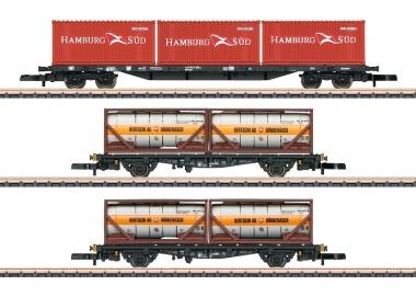 Märklin 82663 Containertragwagen-Set Sgs 693 + Lgjs 598 DB in Z MHI Fabrikneu