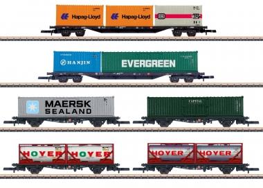 Märklin 82665 Containertragwagen-Set 6-teilig in Z Fabrikneu