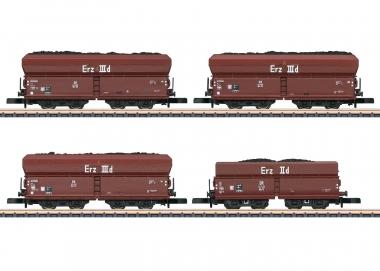 """Märklin 86307 miniclub Güterwagen-Set """"Kohlenverkehr"""" der DB in Z Fabrikneu"""