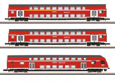 Märklin 87297 miniclub Doppelstockwagen-Set 3-teilig der DB in Z Fabrikneu