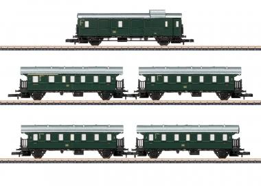 """Märklin 87507 miniclub Personenwagen-Set """"Höllentalbahn"""" der DB in Z Fabrikneu"""