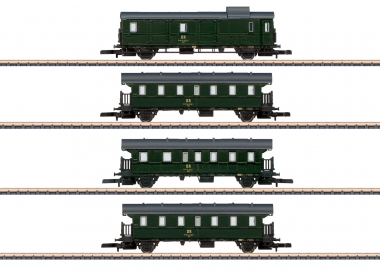 Märklin 87513 miniclub Personenwagen-Set 4-teilig der DR in Z Fabrikneu