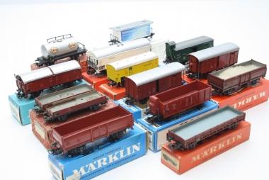 Märklin interessante Sammlung Güterwagen H0 in Originalverpackung