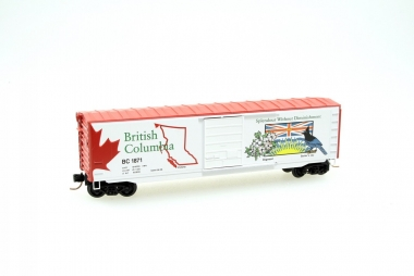 Microtrains Line 07700151 50' Box Car British Columbia Spur N NEUWARE