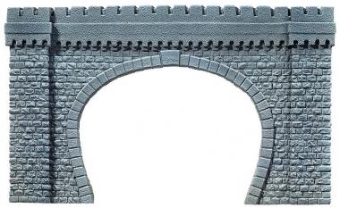 Noch 67360 Tunnel-Portal, 2-gleisig, 64 x 37 cm Spur G in Originalverpackung