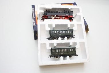 Piko 0723 Zugset mit Dampflok und 2 Wagen der DR in Originalverpackung